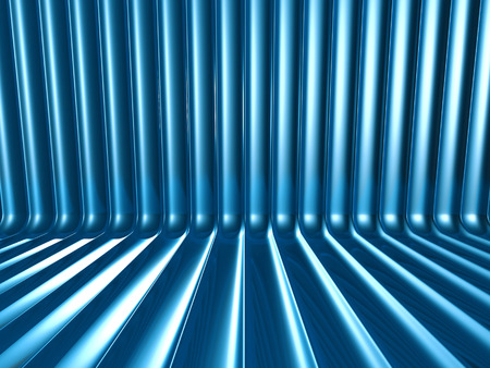 blue metallic background: Abstract Blue Metallic Shiny Background. 3d Render Illustration