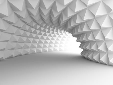 Abstracto Arquitectura Túnel Con El Fondo Luz. 3d hacer ilustración