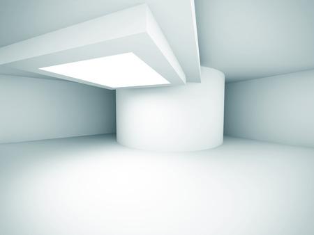 Abstract Architecture Empty Design Interior Background. 3d Render Illustration