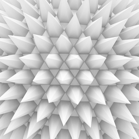 prickle: Abstract White Thorns Pattern background. 3d Render Illustration