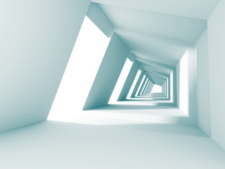 architectural styles: Abstract Architecture Futuristic Modern Background. 3d Render Illustration