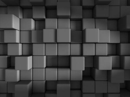 diagonals: Abstract Dark Cubes Design Background. 3d Render Illustration Stock Photo