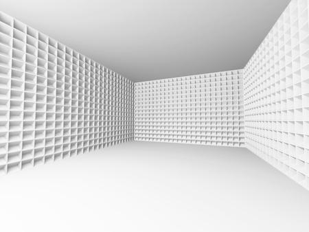 interior design: Abstract Empty Interior. Modern Architecture Design Background. 3d Render Illustration