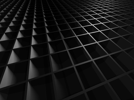 Dark Metallic Square Industrial Design Background. 3d Render Illustration