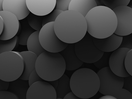 Abstract Round Pattern Wall Architectute Background. 3d Render Illustration Stock Photo