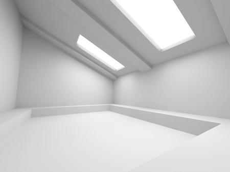 modern interior: Abstract Modern Design Interior Background. 3d Render Illustration