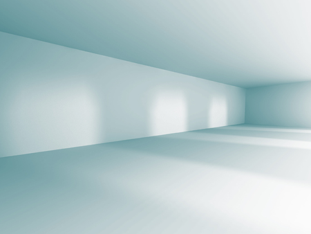 Empty Room Interior White Background. 3d Render Illustration