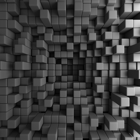 Abstract 3D Cubes Blocks Wallpaper Background. 3d Render Illustration