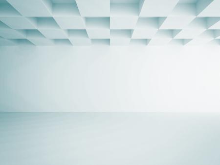 empty room background: Empty Room Interior White Background. 3d Render Illustration