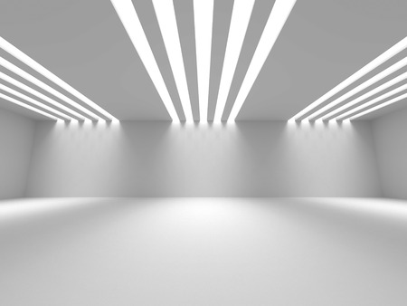 empty space: Empty Room Interior White Background. 3d Render Illustration