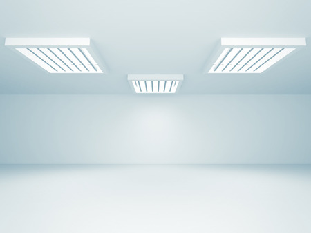 boutique display: Abstract Empty Room With Lights. 3d Render Illustration Stock Photo