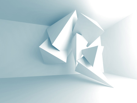 architectural styles: Abstract Pyramid Design Interior Architecture Background. 3d Render Illustration