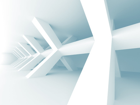 Abstract Architecture Modern Design Background. 3d Render illustration Zdjęcie Seryjne