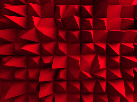bordo: Red Chaotic Cubes Wall Background. 3d Render Illustration