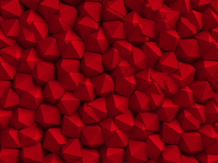 bordo: abstract red geometric wall background Stock Photo