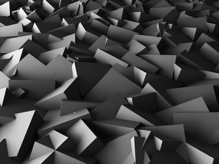 musing: abstract image of dark grey cubes background. 3d render illustration Stock Photo
