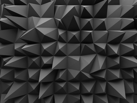 Abstract Geometric Dark 3d Background. 3d Render Illustration