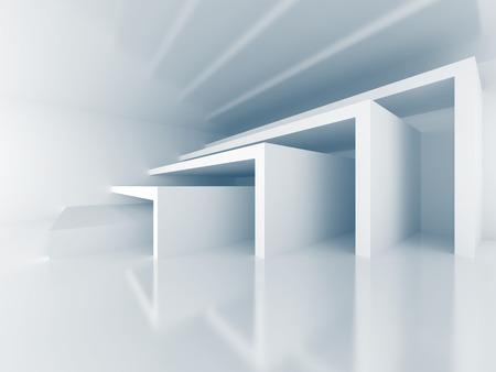 modern interior: Abstract Architecture Modern Interior Background. 3d Render Illustration Stock Photo