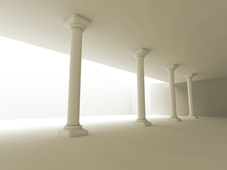 pillars: Column pillars abstract architecture design background. 3d render illustration