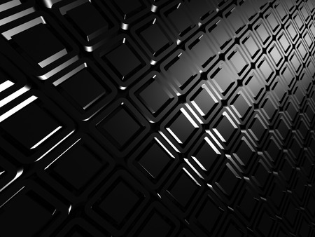 meshed: Silver 3d abstract dark metallic background. 3d render illustration