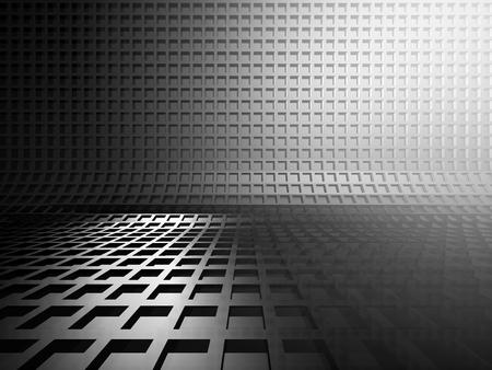 decorration: Abstract silver metal dark background. 3d render illustration