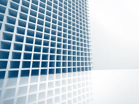 architecture abstract: Abstract Architecture Construction White Background. 3d Render Illustration Stock Photo
