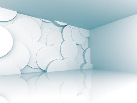 futuristic interior: Abstract Futuristic Empty Room Interior Architecture Background. 3d Render Illustration