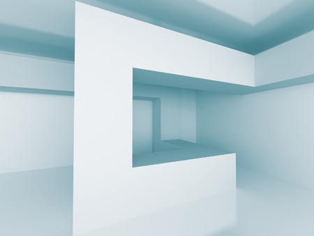pitched roof: Abstract Architecture Design 3d Background. 3d Render Illustration