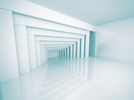 futurictic: Modern Futurictic Architecture Design Background. 3d Render Illustration