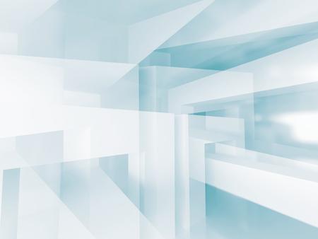 modern architecture: Abstract Architecture Modern Empty Room Interior Background. 3d Render Illustration