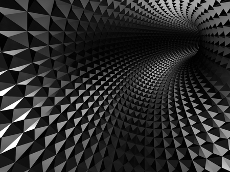 hole: Abstract shining black hole tunnel background. 3d render illustration
