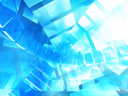 tecnology: Virtual tecnology abstract blue background. 3d render illustration Stock Photo