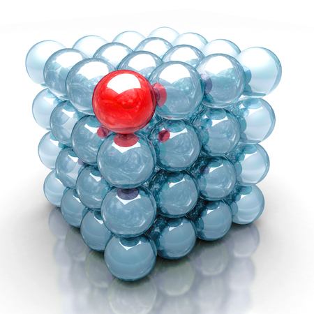 glass sphere: Leadership Concept With Red Different Glass Sphere. 3d Render Illustration