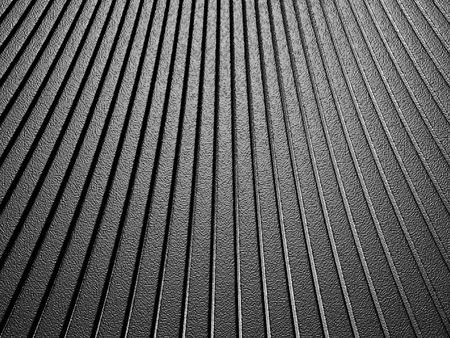 reiteration: Curve shape silver aluminium metallic stripe pattern background. 3d render illustration