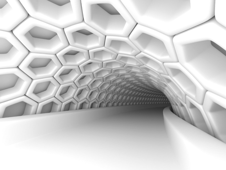 tunnel light: Abstract Architecture Tunnel With Light Background. 3d Render Illustration