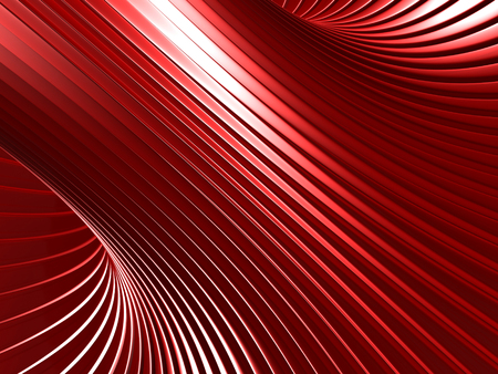 meshed: Red Futuristic Industrial Metallic Background. 3d Render Illustration Stock Photo