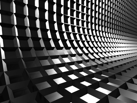 abstract cubes: Aluminum Abstract Dark Metallic Shiny Background. 3d Render Illustration Stock Photo