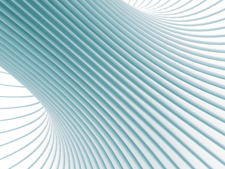 curve: Abstract White Curve Lines 3d Background. 3d Render Illustration