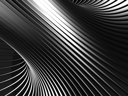 Aluminum Abstract Silver Stripe Pattern Background. 3d render illustration