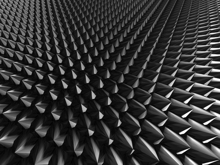 meshed: Abstract Futuristic Dark Metallic Silver Background. 3d Render Illustration Stock Photo