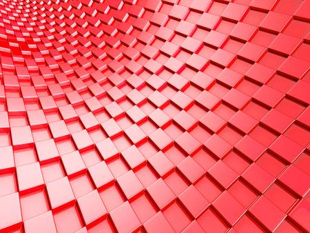 red metallic: Elegant red metallic cubes background. 3d Render Illustration