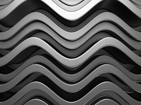 cross bar: Abstract Dark Metallic Silver Alluminium Background. 3d Render Illustration
