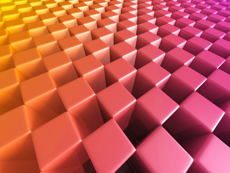 Abstract Colorful Cubes Blocks Background. 3d Render Illustration Stock Photo