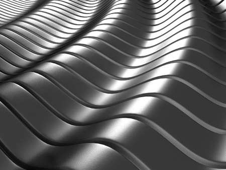 shiny metal background: Aluminum abstract silver metal shiny background. 3d render illustration Stock Photo