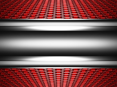ebon: Abstract Glossy Metallic Hi-Tech Background with Hexagon Pattern. 3d Render Illustration