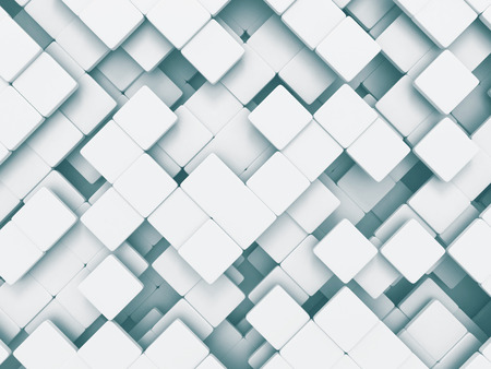 abstract cubes: Abstract Square Shapes Pattern White Background. 3d Render Illustration