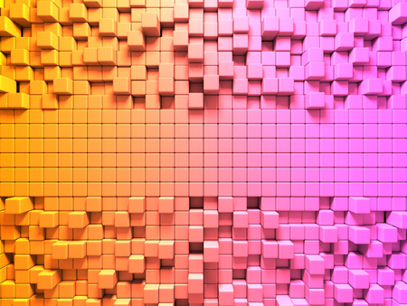stochastic: Bright Colorful Cubes Pattern Background. 3d Render illustration