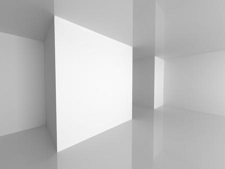 empty interior: Abstract Empty Interior. Modern Architecture Background. 3d Render Illustration Stock Photo
