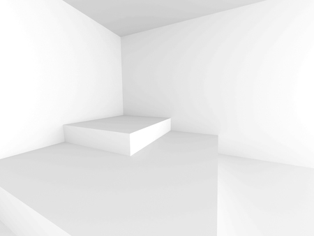 architectural styles: Abstract Architecture Modern Empty Room Interior Background. 3d Render Illustration