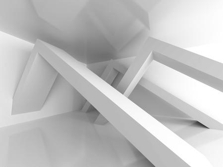 architecture abstract: Abstract Architecture Modern Empty Room Interior Background. 3d Render Illustration
